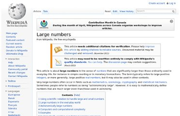 http://en.wikipedia.org/wiki/Large_numbers