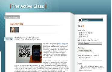 http://theactiveclass.com/2010/07/29/mobile-learning-with-qr-codes/