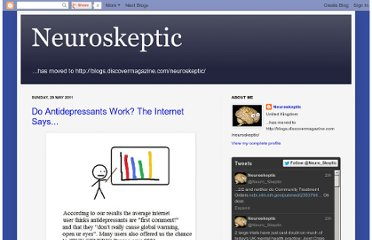 http://neuroskeptic.blogspot.com/2011/05/do-antidepressants-work-internet-says.html