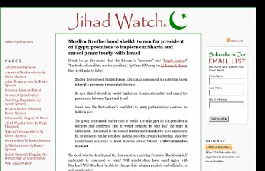 http://www.jihadwatch.org/2011/05/muslim-brotherhood-sheikh-to-run-for-president-of-egypt-promises-to-implement-sharia-and-cancel-peac.html