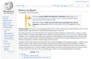 http://en.wikipedia.org/wiki/Poetry_analysis