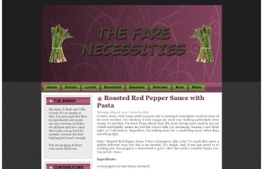 http://www.farenecessities.com/2011/05/roasted-red-pepper-sauce-with-pasta.html