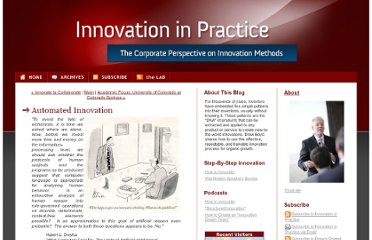 http://www.innovationinpractice.com/innovation_in_practice/2009/08/automated-innovation.html