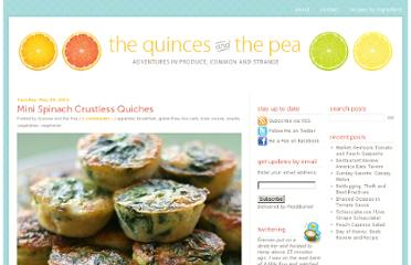 http://www.quincesandthepea.com/mini-spinach-crustless-quiches