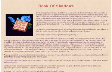 http://spells-witchcraft.org/book-of-shadows.htm