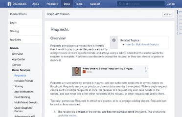 http://developers.facebook.com/docs/reference/dialogs/requests/