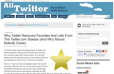 http://www.mediabistro.com/alltwitter/twitter-favorite-lists-moved-why_b9579