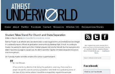 http://www.atheistunderworld.com/2011/05/19/student-takes-stand-for-church-and-state-separation/