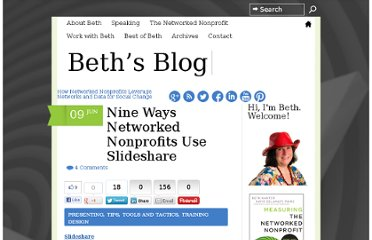 http://www.bethkanter.org/nine-ways-networked-nonprofits-use-slideshare/