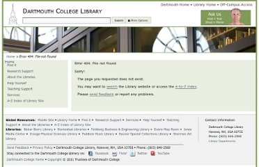 http://library.dartmouth.edu/guides/main.php?subject_id=1442