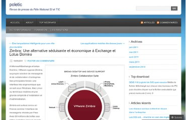 http://poletic.wordpress.com/2011/05/19/zimbra-une-alternative-seduisante-et-economique-a-exchange-et-lotus-domino/