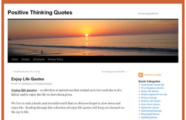 http://www.stayingpositivequotes.com/2011/04/enjoy-life-quotes/