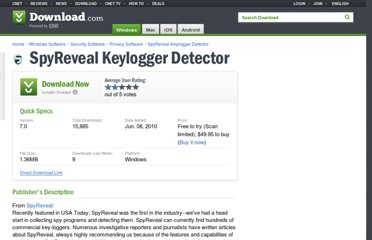 http://download.cnet.com/SpyReveal-Keylogger-Detector/3000-2144_4-11427348.html