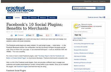 http://www.practicalecommerce.com/articles/2818-Facebook-s-10-Social-Plugins-Benefits-to-Merchants
