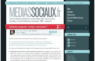 http://www.mediassociaux.fr/2010/06/28/community-management-strategie-vs-operationnel/