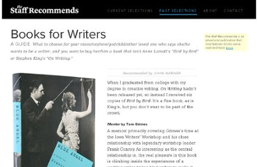 http://www.thestaffrecommends.com/2010-book-gift-guide-writers/