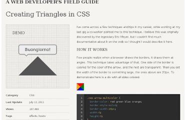 http://jonrohan.me/guide/css/creating-triangles-in-css/