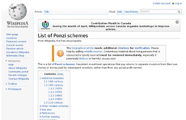http://en.wikipedia.org/wiki/List_of_Ponzi_schemes