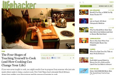 http://lifehacker.com/5807361/the-four-stages-of-teaching-yourself-to-cook-and-how-cooking-can-change-your-life