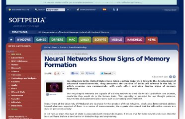 http://news.softpedia.com/news/Neural-Networks-Show-Signs-of-Memory-Formation-203271.shtml