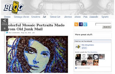http://www.thisblogrules.com/2011/05/colorful-mosaic-portraits-made-from-old-junk-mail.html