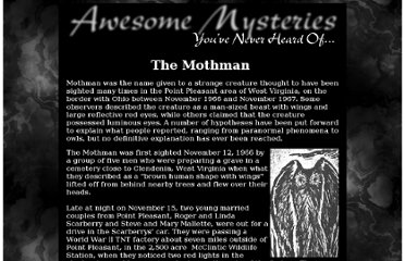 http://www.slightlywarped.com/crapfactory/awesomemysteries/mothman.htm