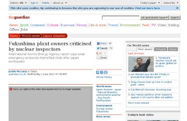 http://www.guardian.co.uk/world/2011/jun/01/fukushima-plant-criticised-nuclear-inspectors