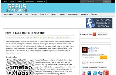 http://www.geeks4share.com/2011/01/how-to-build-traffic-to-your-site/