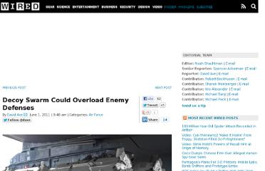 http://www.wired.com/dangerroom/2011/06/decoy-swarm-could-overload-enemy-defenses/