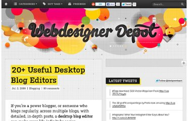 http://www.webdesignerdepot.com/2009/07/20-useful-desktop-blog-editors/