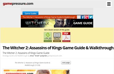 http://guides.gamepressure.com/thewitcher2assassinsofkings/