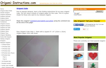 http://www.origami-instructions.com/easy-origami-cube.html