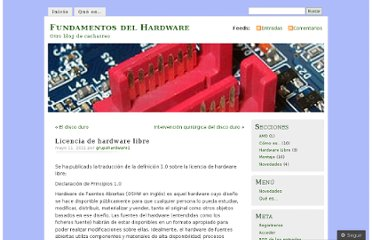 http://fundamentosdehardware.wordpress.com/2011/05/11/licencia-de-hardware-libre/