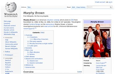 http://en.wikipedia.org/wiki/Murphy_Brown#Murphy_becomes_a_single_mother