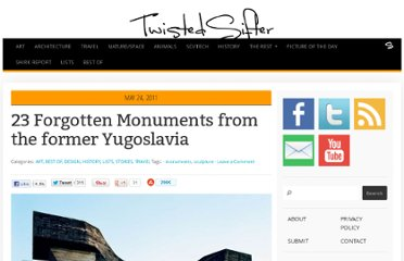 http://twistedsifter.com/2011/05/23-fascinating-and-forgotten-monuments-from-yugoslavia/