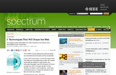 http://spectrum.ieee.org/telecom/internet/5-technologies-that-will-shape-the-web/0