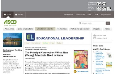 http://www.ascd.org/publications/educational-leadership/sept08/vol66/num01/What-New-%28Young%29-Principals-Need-to-Know.aspx