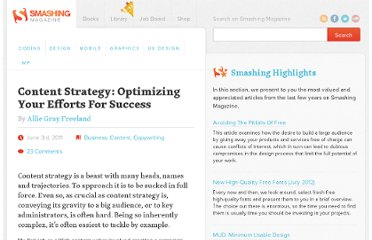 http://www.smashingmagazine.com/2011/06/03/content-strategy-optimizing-your-efforts-for-success/