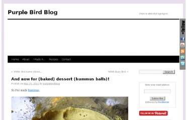 http://www.purplebirdblog.com/2011/05/15/and-now-for-baked-dessert-hummus-balls/
