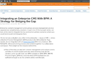 http://www.cmswire.com/cms/enterprise-cms/integrating-an-enterprise-cms-with-bpm-a-strategy-for-bridging-the-gap-008073.php