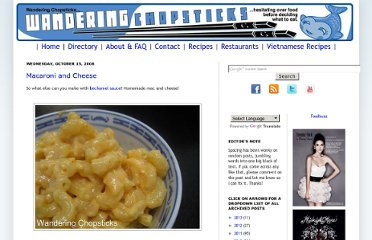http://wanderingchopsticks.blogspot.com/2008/10/macaroni-and-cheese.html