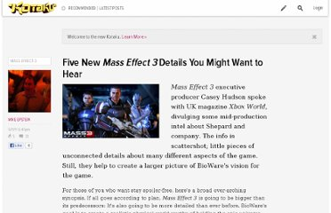 http://kotaku.com/5800972/five-new-mass-effect-3-details-you-might-want-to-hear