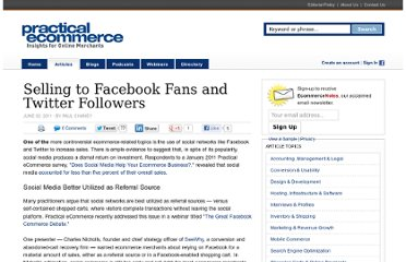 http://www.practicalecommerce.com/articles/2817-Selling-to-Facebook-Fans-and-Twitter-Followers