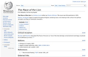 http://en.wikipedia.org/wiki/The_Place_of_the_Lion