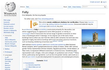 http://en.wikipedia.org/wiki/Folly