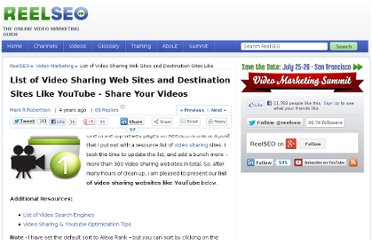 http://www.reelseo.com/list-video-sharing-websites/#