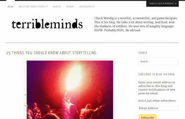 http://terribleminds.com/ramble/2011/06/01/25-things-you-should-know-about-storytelling/