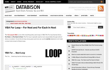 http://www.databison.com/index.php/vba-for-loop-for-next-and-for-each-in-next/