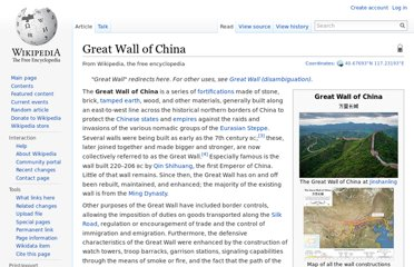 http://en.wikipedia.org/wiki/Great_Wall_of_China