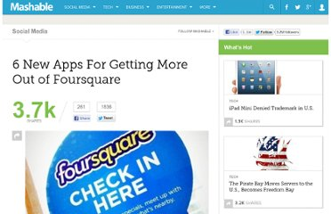 http://mashable.com/2011/06/04/new-foursquare-apps/